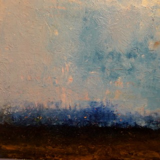 "Landscape, 2010, 12"" X 12"", oil on wood"