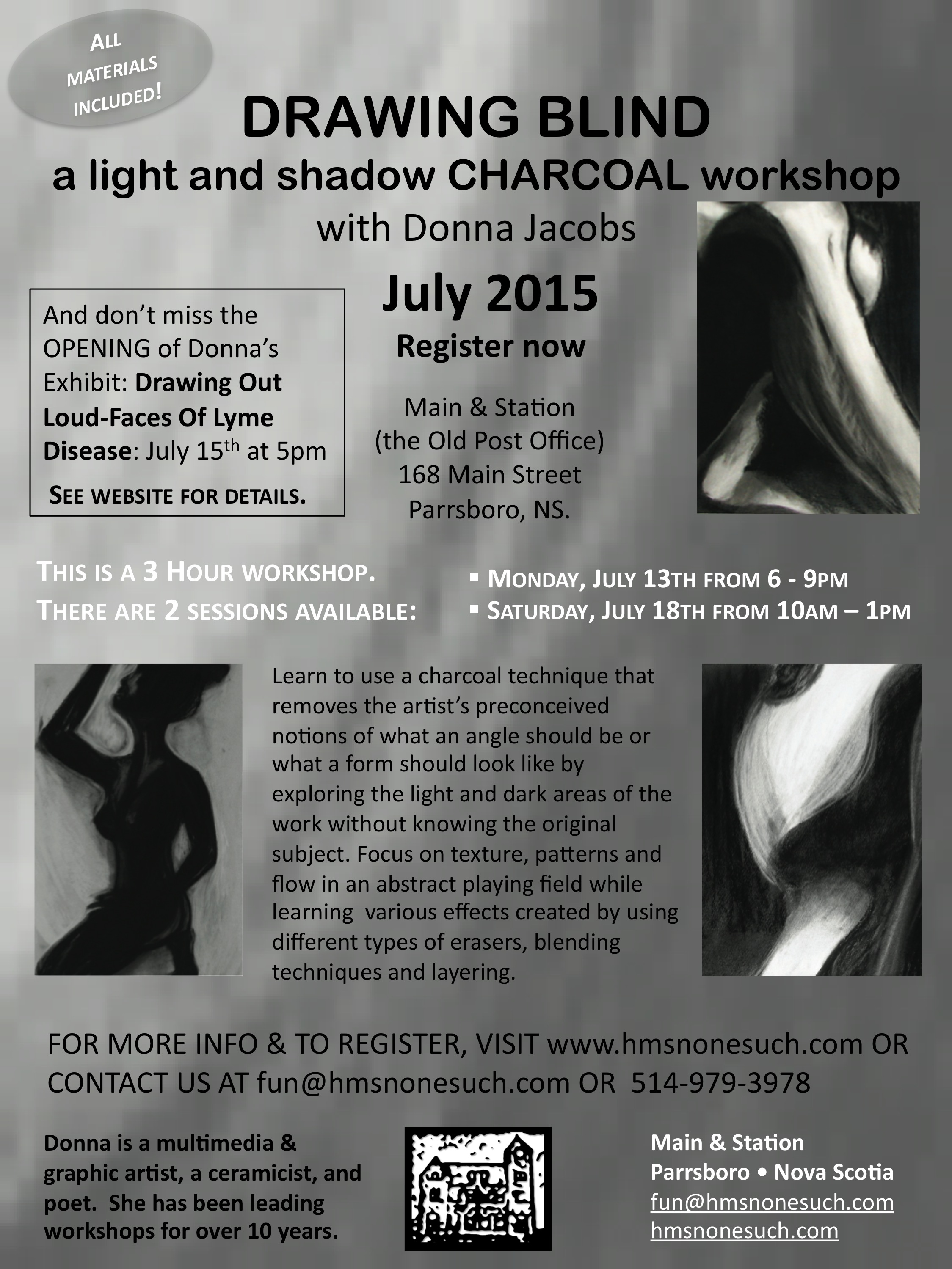 Donna Jacobs Charcoal Workshop