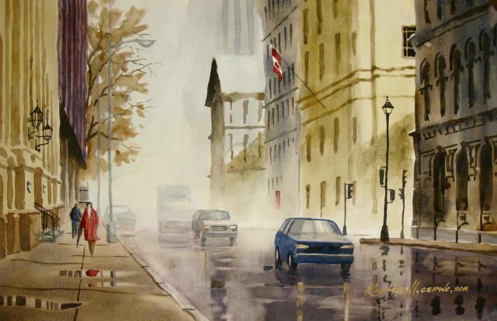 Morning Showers on Hollis      Ron Hazell