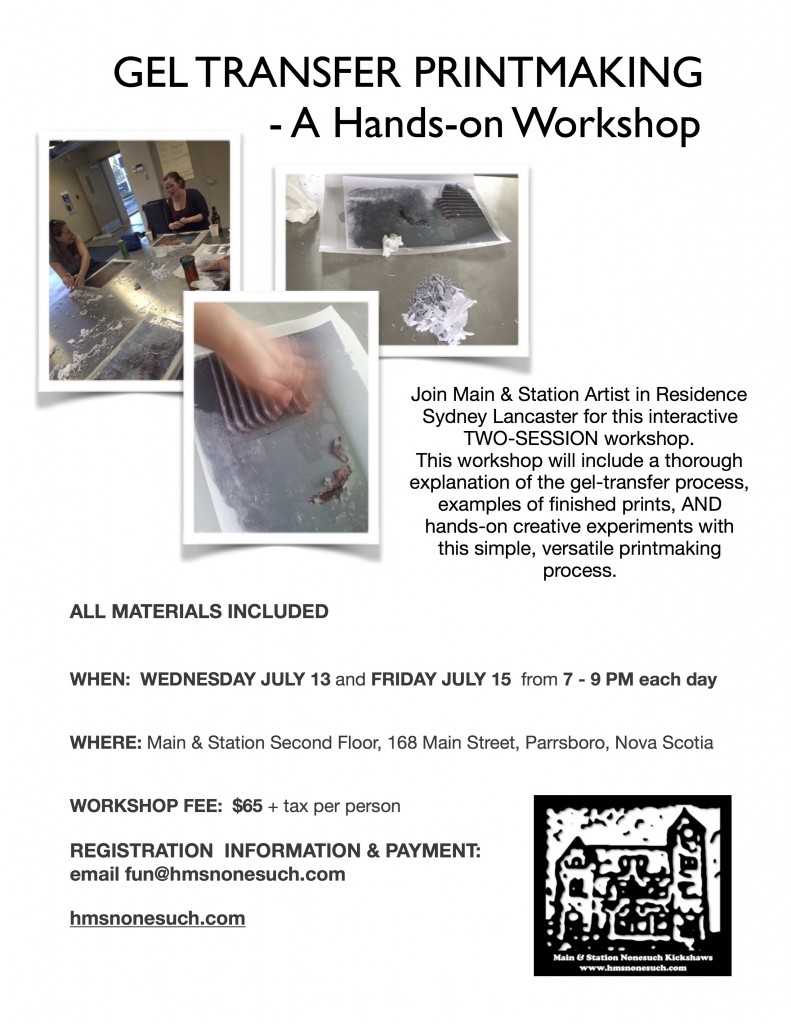 Gel Transfer Workshop Poster